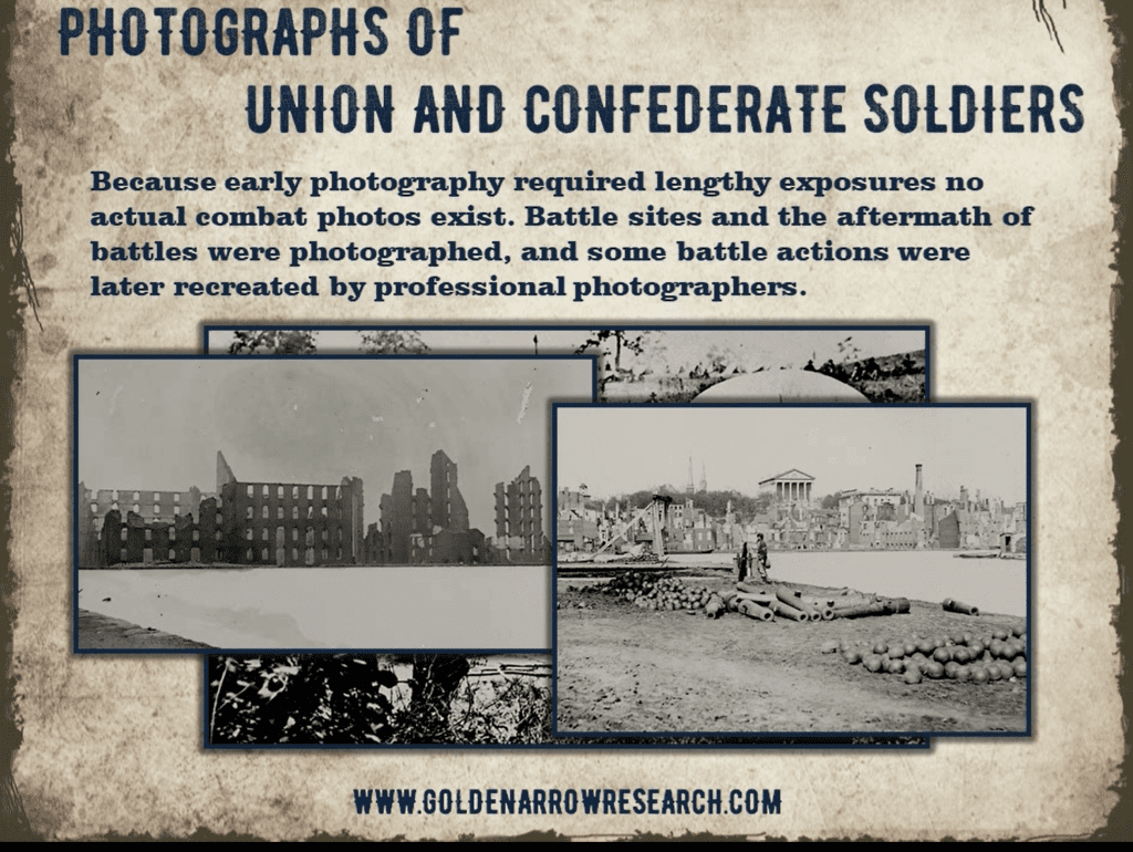 examples civil war battlefield photos which are held at the national archives