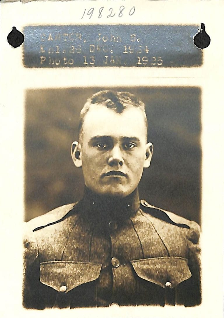 WWI veteran photos from military records used for genealogy research family history