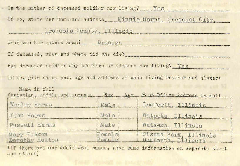 Sibling clues in military records used for genealogy research